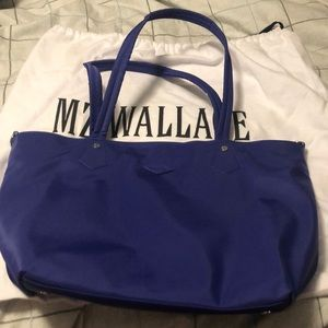 Mz Wallace soho tote in spectrum blue.